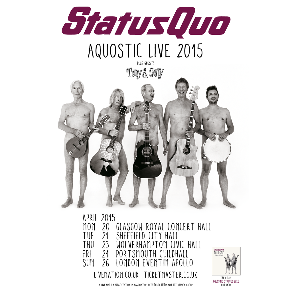 Status Quo Confirm Aquostic Live 2015 Uk Tour Insync